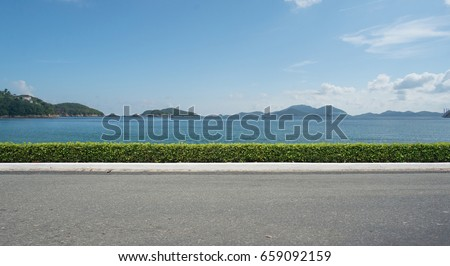 Shutterstock Empty street at the sea.