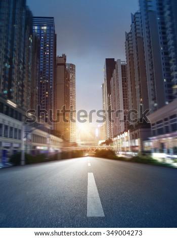 empty street, city in china