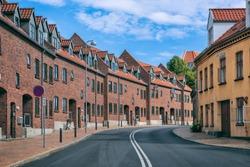 empty street in Odense Denmark