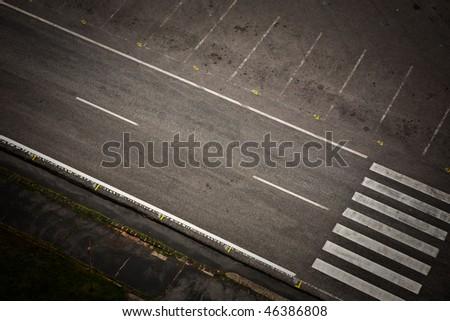 empty street road