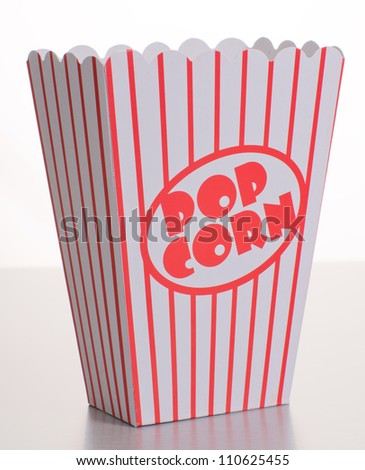 Empty Striped Popcorn Bucket, Background