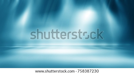 Empty studio gradient used for background and product display #758387230
