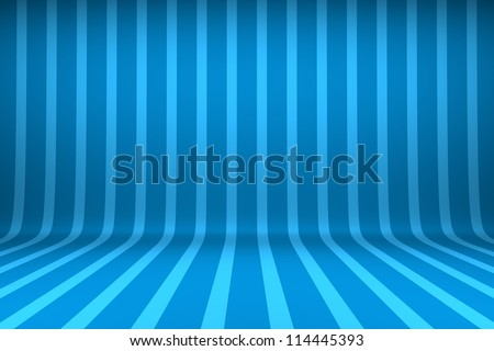 Empty studio with striped backdrop - stock photo