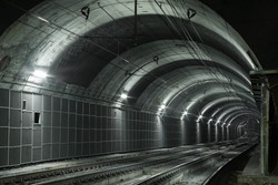 Empty Subway Tunnel, Two Railroads