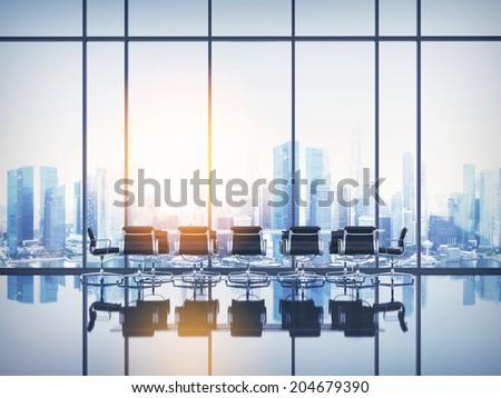 Empty sunny office