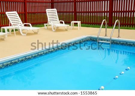 Empty swimming pool in a luxury resort