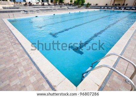 empty swimming pool in resort