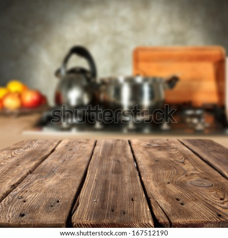 empty table in kitchen