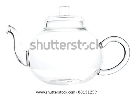 Empty teapot on a white background