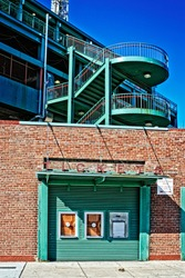 empty ticket booth at Fenway
