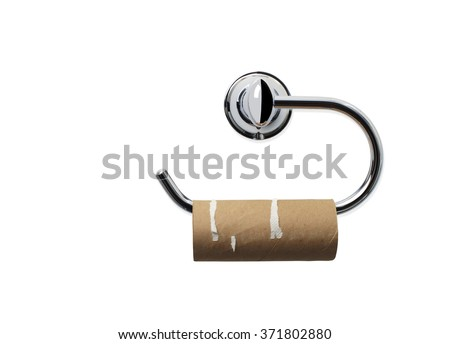 Empty Toilet Paper Roll #371802880