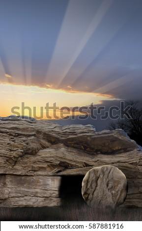 Empty Tomb with Sunrise