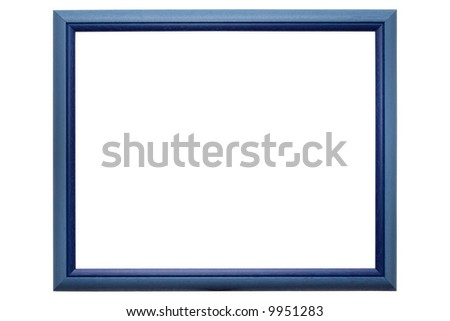 Empty traditional picture frame isolated on white with clipping path