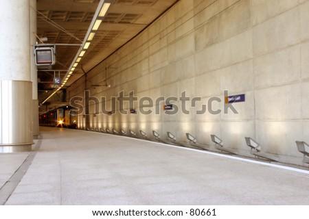 Empty Train Station in London