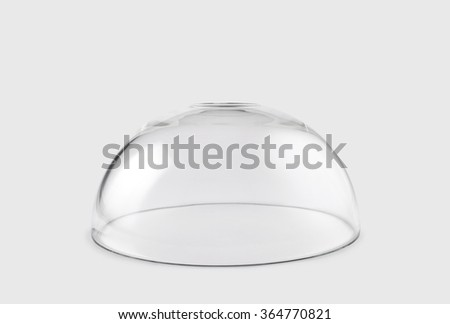 Empty transparent glass dome