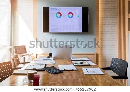 Empty urban meeting room. Interior of meeting room in modern office