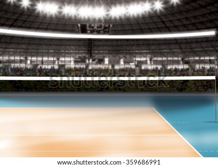 Empty volleyball court