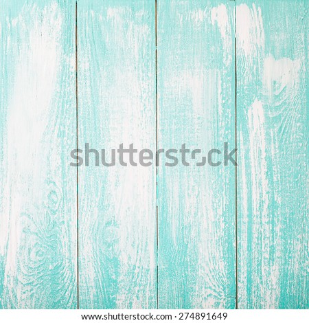 Empty white blue wooden texture top view.