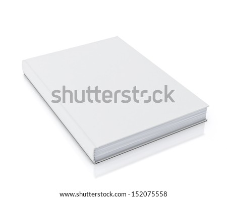 empty white book isolated on white background