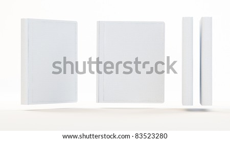Empty white books isolated