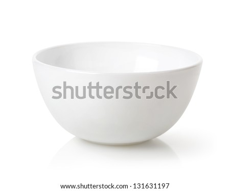 Shutterstock Empty white bowl isolated on white background