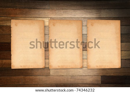 Empty white Crumpled paper on wood table vertical