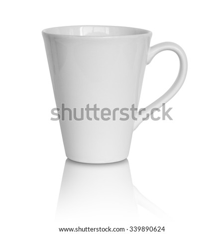 empty white cup isolated on white background #339890624