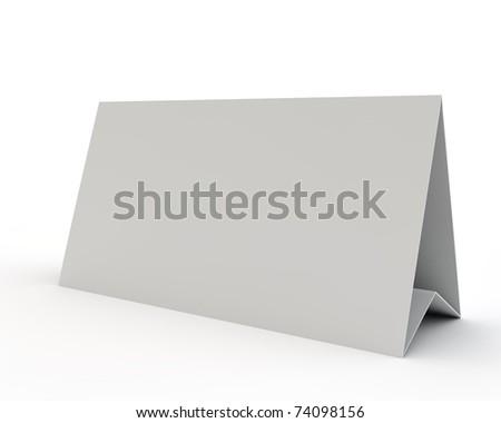 empty white display