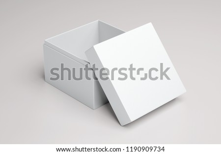 Empty white gift box. 3D rendering