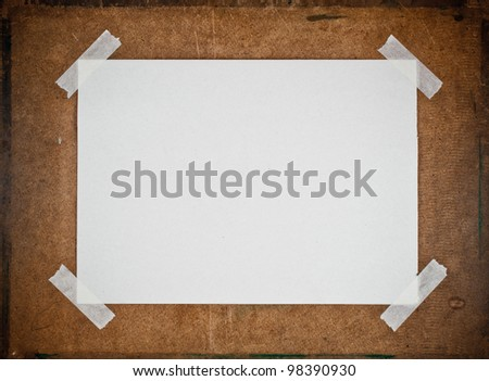 Empty white  paper on Particle board background