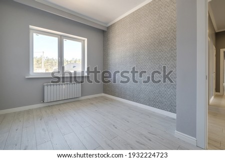 empty white room with repair and without furniture Сток-фото ©