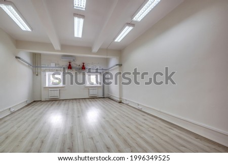 empty white room with repair and without furniture. room for office or clinic Сток-фото ©