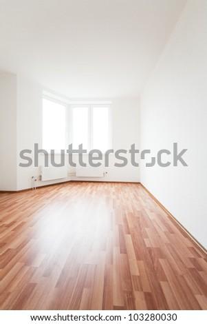 empty white room with window