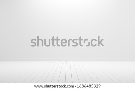 empty white wall background. 3d rendering. Foto stock ©