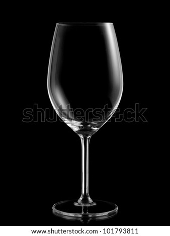 Empty white wine glass