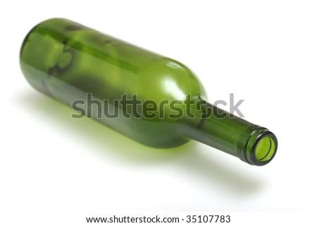 Empty Wine Bottle - stock photo