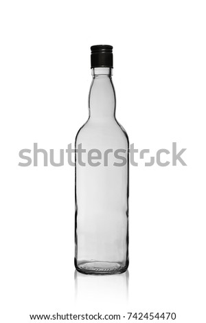empty wine bottle with a lid isolated on a white background #742454470