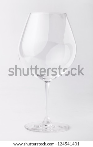 empty wine glass in isolated