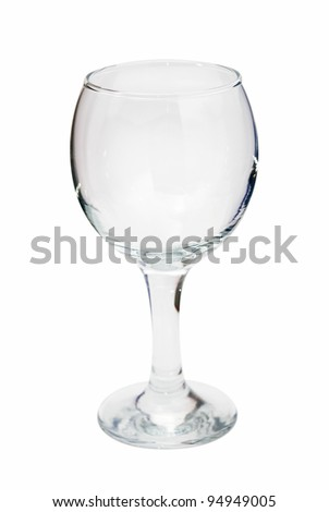 empty wine glass, isolated on white background