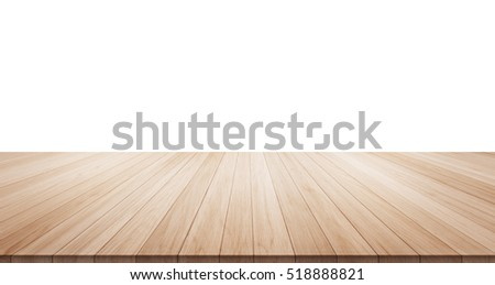 Shutterstock Empty wood table top isolated on white background for display or montage product