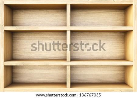 empty wooden box.