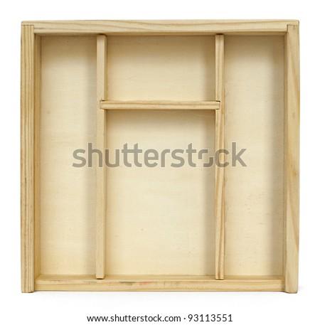 Empty wooden box background