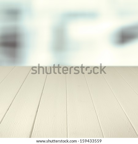 Empty wooden counter background for your culinary product placement or advertisement