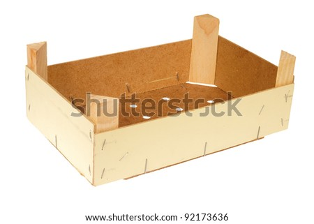 Empty wooden crate,isolated against background