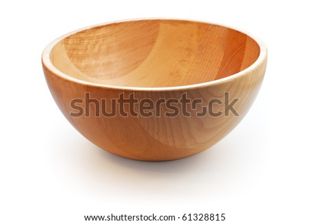 Empty wooden dish. Path included