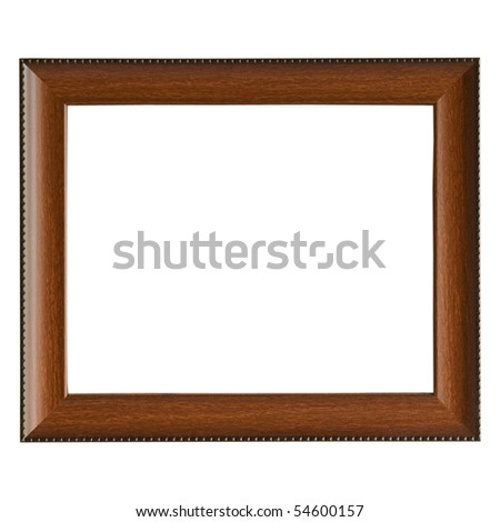 empty wooden frame isolated on white