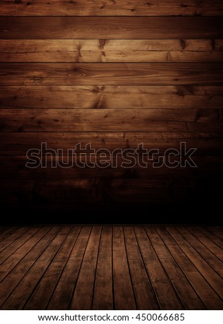 empty wooden interior room.