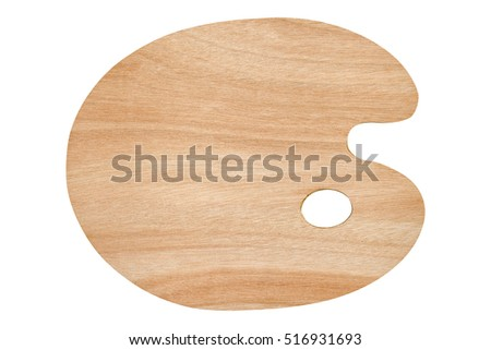 Empty wooden palette isolated on white.