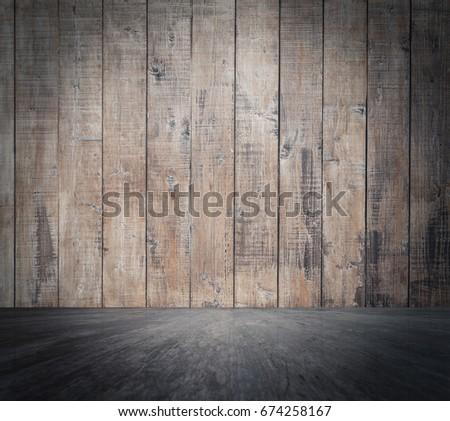 empty wooden room, interior background #674258167