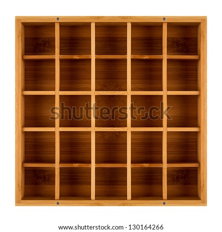 empty wooden shadowbox